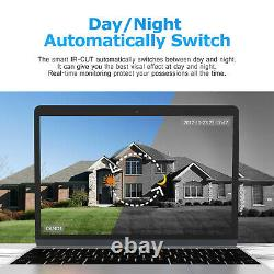 Home Wireless Security Camera System CCTV Video 4CH WIFI NVR HDMI Outdoor 2MP US