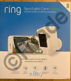 Lot Of 2 Ring 8SB1S7-WEN0 Spotlight Battery Wireless Outdoor Security Cam NEW