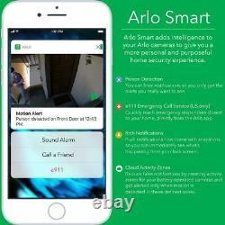 NEW! Arlo Pro 2, 4-Cam System 2-way Audio Wifi HD 1080P Security Camera with Alexa