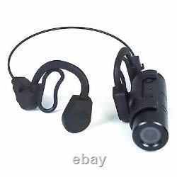 NEW Police Security 1080p Mini Bullet Camera + Headset Headband Wearable Cam