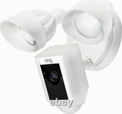NEW Ring Floodlight Camera Motion-Activated HD Security Cam Two-Way Talk White