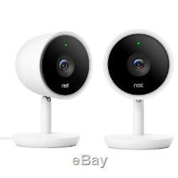 Nest Cam IQ NC3200US 1080p Indoor Security Camera 2 Pcs White