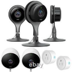 Nest Indoor Security Camera (Pack of 3) with Outdoor Security Cam Bundle