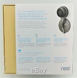 Nest NC1102ES Nest Cam Indoor Security Camera Black/Silver Good Shape