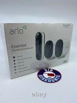 NewithSealed Arlo Essential Security Cam Bundle 2 Cameras 1 Video Doorbell VMK2260
