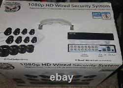 Night Owl 1080p HD Wired Security System 16 Channel DVR Spotlights 8 Cam 1TB HDD