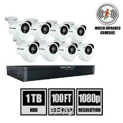 Night Owl 8-Channel 1TB DVR Security Cameras w 8 Wired 1080p Smart Cams X31P-88