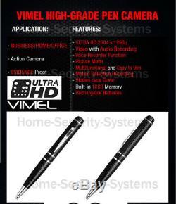 Pen Camera 1296P Ultra XHD High Quality Video 2K Body Cam