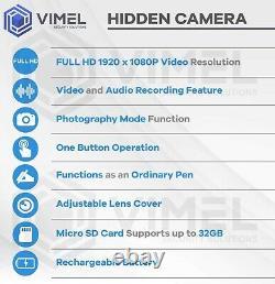 Pen Camera Professional Body Security Cam Vimel Cam Wearable Pocket 1080P pencam