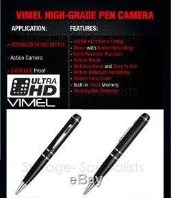 Pen Camera Ultra XHD High Quality Video 2K 1296P Body Cam