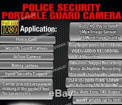 Police Camera Security Guard Body Recorder Vimel Full HD 1080P Night Vision Cam