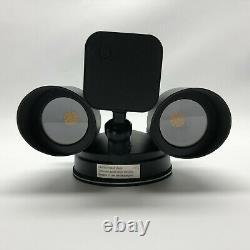 Ring Floodlight Cam Black Camera with 2 Floodlights
