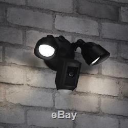Ring Floodlight Cam Black Hardwired Outdoor Security Camera R8SFP7-BEN0