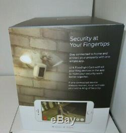 Ring Floodlight Cam Motion Activated Security Cam & Floodlight withSiren 1080p NEW