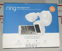 Ring Floodlight Cam Motion Activated Security Camera & Floodlight White Sealed