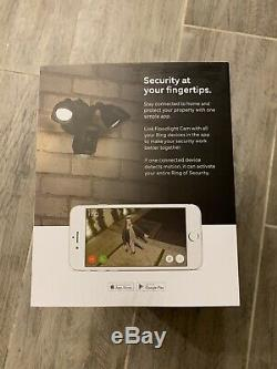 Ring Floodlight Cam Outdoor Security Camera Black BRAND NEW Factory Sealed