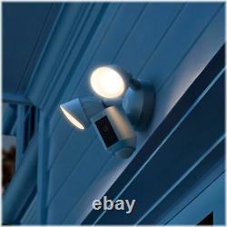 Ring Floodlight Cam Plus Outdoor Wired 1080p Surveillance Camera White