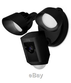 Ring Floodlight Camera Motion-Activated HD Security Cam 2Way Talk, Alarm Blk NEW