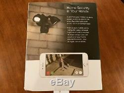 Ring Floodlight Camera Motion-Activated HD Security Cam 2-Way Talk, Black, Alexa