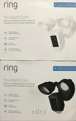 Ring Floodlight Camera Motion-Activated HD Security Cam 2-Way Talk NEW SEALED