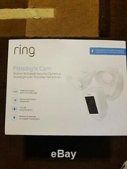 Ring Floodlight Camera Motion-Activated HD Security Cam 2-Way Talk, Siren Alarm