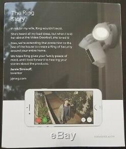 Ring Floodlight Camera Motion-Activated HD Security Cam 2-Way Talk, White