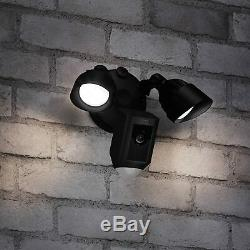 Ring Floodlight Camera Motion-Activated HD Security Cam Two-Way Talk Black