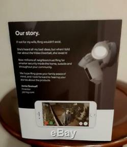 Ring Floodlight Camera Motion-Activated HD Security Cam Two-Way Talk &Siren