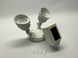Ring Floodlight Camera Motion-Activated HD Security Cam Two-Way Talk White