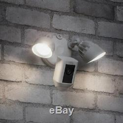 Ring Floodlight Camera Motion-Activated HD Security Cam Two-Way Talk and Siren
