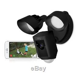 Ring Floodlight Camera Motion-Activated HD Security Cam Two-Way Talk and Siren A