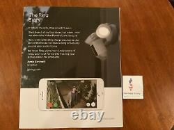Ring Floodlight Camera Motion-Activated HD Security Cam, White, Alexa OPEN