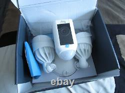 Ring Floodlight Camera Motion HD Security Cam 2-Way Talk White Open Box