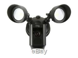 Ring Floodlight Camera Motion HD Security Cam Black Alexa, Certified Refurbished
