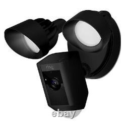 Ring Outdoor Floodlight Cam with Motion Activated Camera & Floodlight, Black