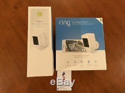 Ring Security Surveillance Camera Spotlight Cam Solar Wireless Battery HD White