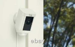 Ring Security Surveillance Camera Spotlight Cam WIRED Battery HD White