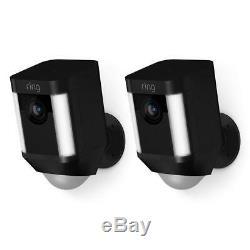 Ring Spotlight Battery Cam 2-Pack Black- Brand New in Box
