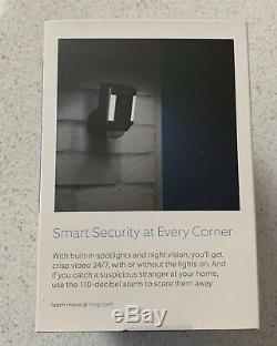 Ring Spotlight Cam Battery Black Outdoor Security Camera NEW Factory Sealed