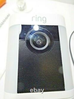Ring Spotlight Cam Battery Indoor/Outdoor Security Camera White