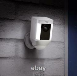 Ring-Spotlight Cam Battery Outdoor Rectangle Security Wireless Camera, Spotlight