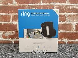 Ring Spotlight Cam Battery Outdoor Security Camera Black NEW FREE SHIPPING
