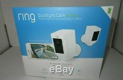 Ring Spotlight Cam Battery Outdoor Security Camera & Spotlight 2-Pack Sealed