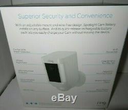 Ring Spotlight Cam Battery Outdoor Security Camera & Spotlight 7G-8SB1S7WEN NEW