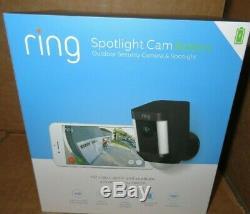 Ring Spotlight Cam Battery Outdoor Security Camera & Spotlight 8SB1S7-NENO NEW
