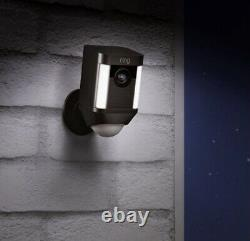 Ring Spotlight Cam Battery Powered HD Security Cam with 2-Way TalkSiren, Black NEW