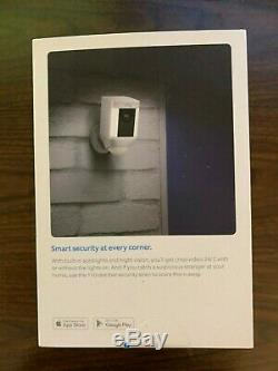 Ring Spotlight Cam Battery Powered HD Security Camera (White)