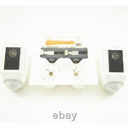 Ring Spotlight Cam Battery White Security Camera 2-Pack 8X81X7-WEN