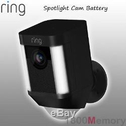 Ring Spotlight Cam Battery Wireless HD 1080p Outdoor Security Video Camera Black