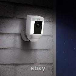 Ring Spotlight Cam Battery with Solar Panel Bundle Deal Camera (1 Pack, White)